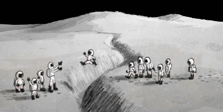 Image result for field trip to the moon john hare