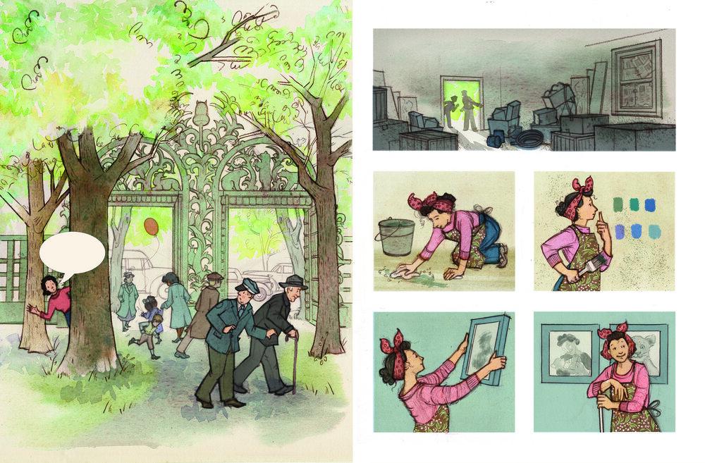 Tessa Takes Wing is Landing — Julie Downing Illustration