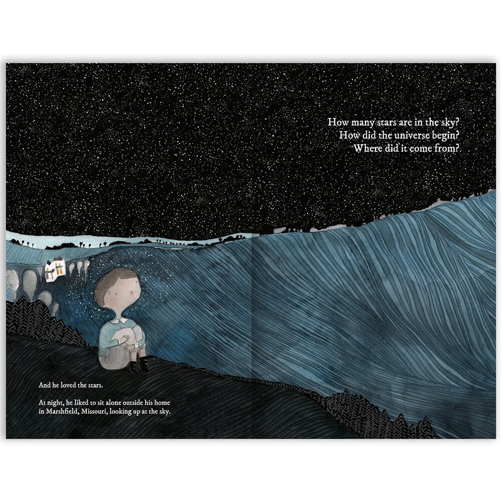 The Boy Whose Head Was Filled With Stars, A Life of Edwin Hubble —  Enchanted Lion Books